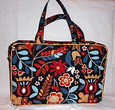 Veľké tašky - Cestovná taška - Kvety. - 6566028_