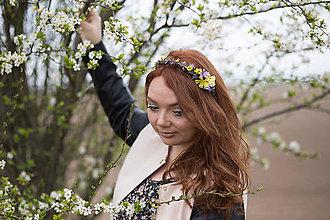 Ozdoby do vlasov - Kvetinová čelenka \