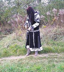 Kabáty - čierno biela zákazka -kabát, sukňa - 6580915_