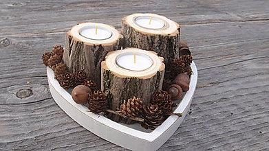 Svietidlá a sviečky - Svietnik- Agát - 6584472_