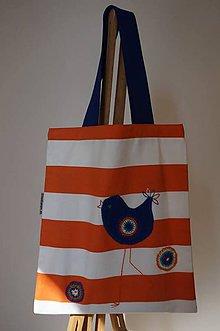 Nákupné tašky - Claudianum: Vyšívaná nákupná taška Vtáčik - 6597102_