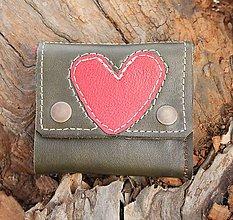 Peňaženky - Šrajtofla ze srdckem - 6602325_