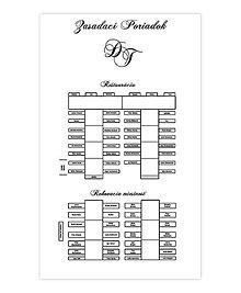 Grafika - Zasadací poriadok a menovky na koláče na svadbu - 6604682_