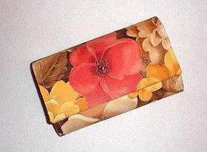 Peňaženky - Peňaženka - Kvety 1. - 6606702_