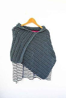 Iné oblečenie - _PoNCHo... asymmetrical... v Šedej... - 6617307_