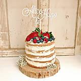 Dekorácie - MENA Ženích a nevesta zápich na tortu - 6615377_