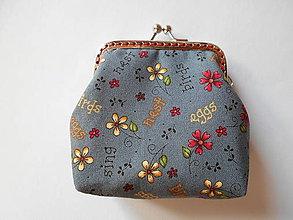 Peňaženky - Sivá minipeňaženka - 6622637_