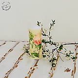Svietidlá a sviečky - Sviečka- ruže - 6625163_