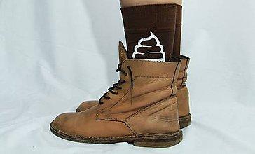 Obuv - Ponožky kakaová točená - 6630264_