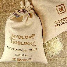 Drogéria - Ekologické pranie: Mydlové hoblinky NATURAL 500 g bez palmov - 6633068_