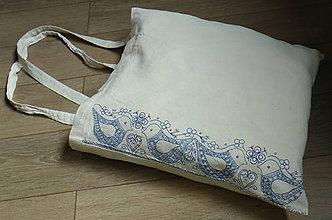 Nákupné tašky - Plátená nákupná taška s ľudovým motívom - 6640706_