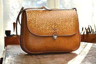 Kabelky - kabelka kožená PASPULA DOUBLE  XXL - 6645421_