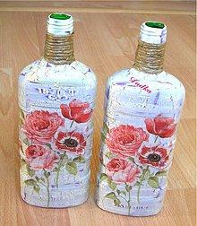 Nádoby - Sklenená váza - 6642355_