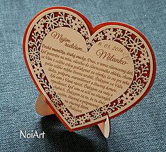 Darčeky pre svadobčanov - Stojan na Srdiečko - 6646289_