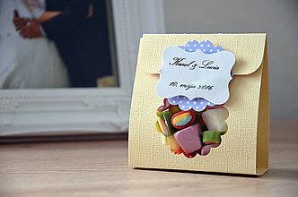 Darčeky pre svadobčanov - Krabička \