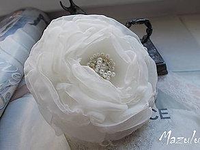 Ozdoby do vlasov - svadobná kvetinka do účesu - 6655495_