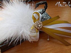 Pierka - svadobné pierko pre ženícha IV. - 6657337_