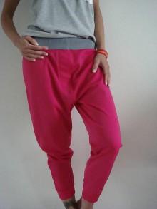 Nohavice - HOT  pink - 6657403_