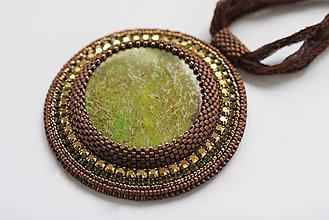 Náhrdelníky - Luxusný vyšívaný náhrdelník - 6656734_
