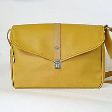 Kabelky - Oldskúl aktofka (žltá) - 6660887_