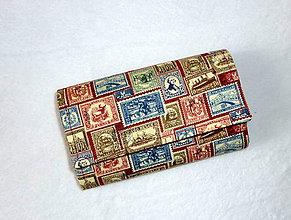 Peňaženky - Peňaženka - Známky. - 6661729_