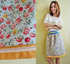 Sukne - Jolly Floral - veselá, jemne riasená sukňa - 6673601_