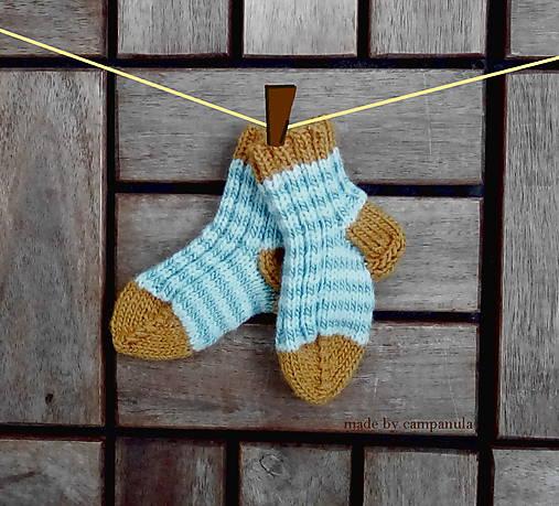 Topánočky - Detské ponožky malilinké modrotyrkysové - 6674453_