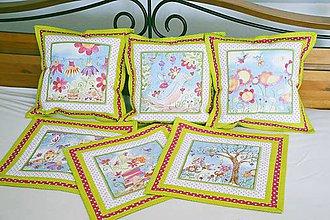 Úžitkový textil - Letné patchworkové vankúšiky - 6676930_