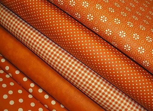 Textil - Terakotová maličká bodka š.150cm - 6677081_