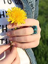 Prstene - Živicový prsteň  - 6686427_