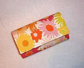 Peňaženky - Peňaženka - Rozkvitnutá záhrada. - 6687879_