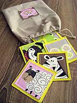 Hračky - Látkové pexeso so zvieratkami, žlté - 6694635_