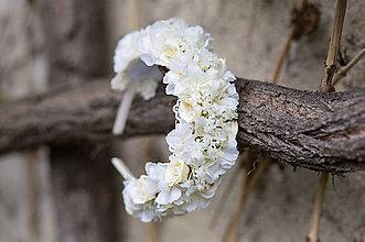 Ozdoby do vlasov - Kvetinová čelenka/parta \