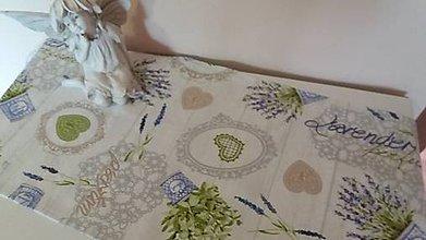 Úžitkový textil - Levandulova štola - 6706183_
