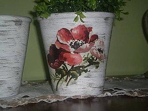 Nádoby - Hlinený kvetináč Maky - 6708432_