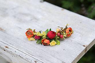 Ozdoby do vlasov - výpredaj z 20 eur Kvetinový štvrťvenček