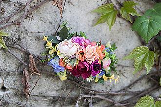 Ozdoby do vlasov - Kvetinový bohato zdobený hrebienok \
