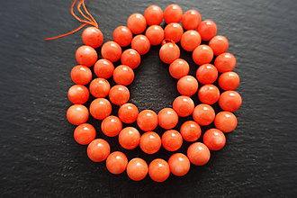 Korálky - Koral oranžový 8mm - 6709030_