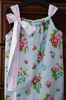 Detské oblečenie - Letné ružičkové šatočky - 6709646_