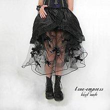 Sukne - Gothická sukňa s mašličkami - 6710200_