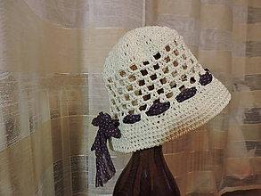 Detské čiapky - Klobúčik béžový s mašľou - 6714935_