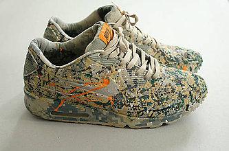 Obuv - Maľované tenisky Nike Air Max army - 6714580_