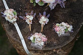 Náramky - Kvetinový náramok na stuhe \