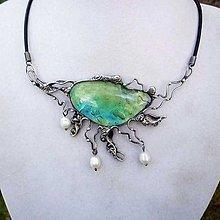Náhrdelníky - Z hlubin oceánu - perly+ luxusní sklo - 6722325_