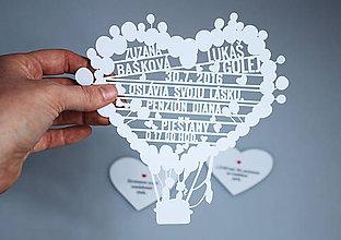 Grafika - Svadobné oznámenie balóny - 6724343_