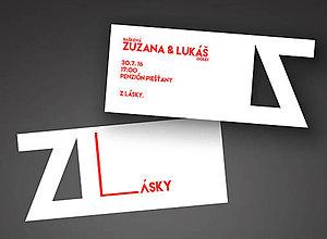Grafika - Svadobné oznámenie Z Lásky - 6724358_