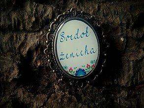 Darčeky pre svadobčanov - Brošnička na svadobné pierko pre Svedka ženícha - 6725826_