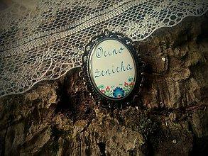 Darčeky pre svadobčanov - Brošnička na svadobné pierko pre Otca ženícha - 6725842_