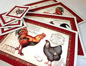 Úžitkový textil - Prestieranie - Na dvore. - 6724814_