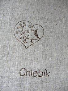 Úžitkový textil - dlhé vrecko na chlebík - 6729795_